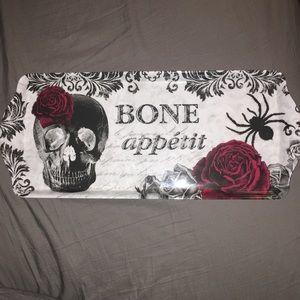 Melamine Halloween Skull and Rose Serving Tray